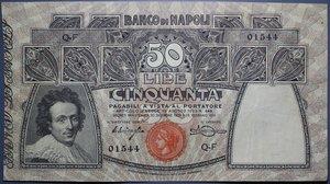 reverse: BANCO DI NAPOLI 50 LIRE 23/02/1911 NC BB-SPL