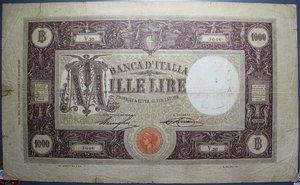 reverse: VITT. EMANUELE III 1000 LIRE 18/12/1925 RRR MB-BB (STRAPPETTI E FORI)