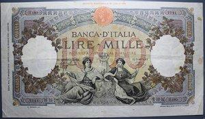 reverse: VITT. EMANUELE III 1000 LIRE 17/5/1943 R REGINE DEL MARE FASCIO L AQUILA qBB (MACCHIE)