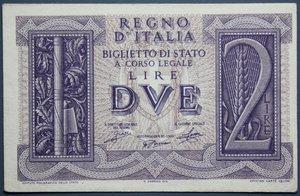 reverse: VITT. EMANUELE III 2 LIRE 1939 IMPERO SPL