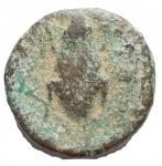 D/ Mondo Greco - Apulia. Luceria (Circa 211-200 A.C.) Oncia. D/ Testa di Apollo a destra. R/ Rana. AE. g 3,11. mm 14,4. HN Italy 682. MB-qBB. Intonsa. Rara