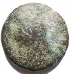 R/ Mondo Greco - Apulia. Luceria (Circa 211-200 A.C.) Oncia. D/ Testa di Apollo a destra. R/ Rana. AE. g 3,11. mm 14,4. HN Italy 682. MB-qBB. Intonsa. Rara