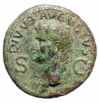 obverse: Impero Romano. Augusto. (27 a.C.-14 d.C.). Dupondio. d/ DIVVS AVGVSTVS PATER testa radiata verso sinistra davanti un fulmine r/ Livia con scettro seduta verso destra tra SC. Peso 10,85 g. Diametro 28,72 mm. RIC.71. BB+. Patina Verde.