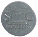 reverse: Impero Romano. Augusto 27 a.C. - 14 d.C. Asse. D/ Testa di Augusto verso sinistra DIVVS AVGVSTVS PATER. R/ PROVIDENT Altare tra SC. Peso 10,88 g. Diametro 29,00 mm. RIC.81 ( Tiberio). qSPL.#