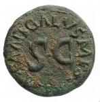 obverse: Impero Romano- Augusto. 27 a.C. - 14 d.C. Quadrante. D/ MESSALLA GALVS IIIVIR Intorno ad un altare. R/ SISENNA APRONIVS AAAFF Intorno ad SC. Peso 2,955 gr. Diametro 15,50x17 mm. RIC.455. BB+.