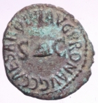 obverse: Impero Romano. Caligola. 37-41 d.C. Quadrante. D/ PON M TR P IIII COS QVAT Nel campo RCC. R/ C CAESAR DIVI AVGPRON AVG Pileo tra SC. Peso 2,55 g. Diametro 19,63 mm. qSPL. Patina Verde