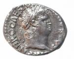 obverse: Impero Romano. Nerone. 54-68 d.C. Denario. D/ IMP NERO CAESAR AVG PP Testa verso destra. R/ SALVS la Salus seduta con patera verso sinistra. RIC.67. Peso 3,65 gr. Diametro 18,48 mm. SPL\BB. R.Ritratto di ottimo stile