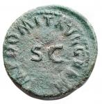 reverse: Impero Romano - Domiziano 81-96 d.C.Quadrante. D/ IMP DOMIT AVG GERM Nel campo SC. R/ Rinoceronte verso destra. Peso 1,95 g. Diametro 16,2 x 16,7 mm. BB+. Patina verde. R