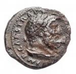 obverse: Impero Romano - Traiano. 98-117 d.C.Quadrante. D/ Busto di Ercole verso destra. R/ Maiale andante verso destra, SC In esergo. Zecca di Roma. Peso 2,2 gr. Diametro 15 mm. RIC.702.BB