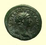 obverse: Impero Romano. Traiano. 98-117 d.C. Quadrante. : D/ IMP CAES NERVA TRAIAN AVG Testa laureata verso destra. R/ Lupa verso destra SC. RIC.691. Peso 3 gr. Diametro 17 mm. BB+. Bella Patina Verde.