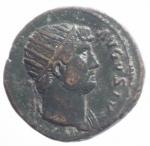 obverse: Impero Romano. Adriano. (117-138 d.C). Dupondio. d\ HADRIANVS AVG Testa radiata verso destra r\ COS III la Fides stante con cesto di frutta e spighe. Peso 11,66 g. Diametro 26 mm. RIC.656. qBB.#