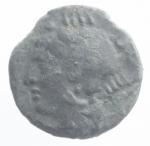 obverse: Mondo Greco. Bruttium. Brettii. ca. 215-205 a.C. Triemiobolo. AE. D/ Testa di Anfitrite a sinistra. R/ Granchio. SNG ANS 10. Peso 1,80 gr. Diametro 16,00 mm. BB.#