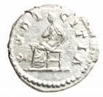 R/ Impero Romano. Lucilla, moglie di Lucio Vero, deceduta nel 183 d.C. Denario. Ag. D/ LVCILLA AVGVSTA. Busto drappeggiato a destra. R/ PVDICIDITIA. Pudicitia seduta a sinistra, tiene una mano sul petto. RIC, M. Aurelius, 781. C. 62. BMC 349. Peso gr. 3.00. Diametro mm. 19.00. BB+.