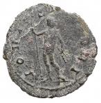 R/ Impero Romano - Gallieno. 253-268 d.C.Antoniniano. D/Testa radiata verso destra. R/ IOVI STATORI Giove con scettro e fullmine volto destra. Peso 2,66 gr. Diametro 20,3 x 20,9 mm. BB. Patina verde