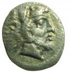 obverse: Mondo Greco. Lucania. Heraclea. 370-281 a.C. Diobolo. AG. D/ Testa di Eracle a destra. R/ HE retrogrado. Leone a destra. SNG ANS 208. Peso 1,14 gr. Diametro 10,90 mm. qSPL. R.