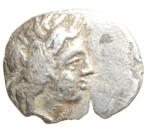 obverse: Mondo Greco. Lucania. Metaponto. IV sec. a.C. Diobolo. Ag. D/ Testa di Demetra a destra. R/ Spiga a destra aratro. SNG ANS 525. Peso 0,55 gr. Diametro 13,91 mm. BB. R.