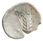 reverse: Mondo Greco. Lucania. Metaponto. IV sec. a.C. Diobolo. Ag. D/ Testa di Demetra a destra. R/ Spiga a destra aratro. SNG ANS 525. Peso 0,55 gr. Diametro 13,91 mm. BB. R.