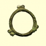 reverse: Monete Celtiche. I Celti. II-I sec. a.C. Moneta ad anello con tre coppie di globetti.: AE. Peso 2 gr. Diametro 24 mm. BB.
