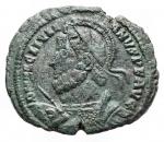 D/ Impero Romano -Giuliano II l'Apostata. 360-363 d.C.AE. D/ Busto armato a sinistra. R/ VOT / X / MVLT / XX entro corona. In esergo URB ROMAPesogr.4,78. Diametro 22,4 mm.BB++.Bella patina verde