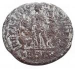 R/ Impero Romano -Valentiniano II (375-392).AE 23,9 mm. Siscia.D/ DN VALENTINIANVS IVN PF AVG. Busto diademato, drappeggiato e corazzato a destra.R/ REPARATIO REIPVB. L'imperatore, stante a sinistra, tiene Vittoria su globo e porge la mano a personaggio femminile turrito inginocchiato.g 4,45. MB-qBB/MB+