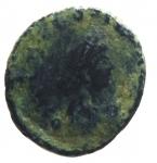 D/ Impero Romano. Teodosio II. 406-450 d.C. Follis. D/ DN THEODO-SIVS PF AVG Busto con diadema verso destra. R/ Crocetta in corona d' alloro. Peso 1,10 gr. Diametro 13,33 mm. MB. Patina. R.