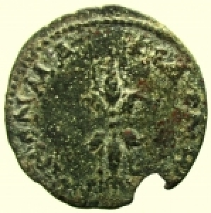 reverse: Provincia Romana. Macedonia. Koinon. Marco Aurelio. 161-180 d.C. Dupondio.: D\ Testa radiata verso destra. R\ Fulmine. Moushmov 5892. Peso 13,60 gr. Diametro 27,00 mm. qBB.
