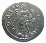 R/ Provincia Romana. Gordiano III e Tranquillina. Anchialus, Tracia. 238-244 d.C. AE. D/ I busti affrontati di Gordiano III e Tranquillina. R/ Tyche, stante a sinistra, tiene timone e cornucopia. Varbanov 735. Peso gr. 11,30. Diametro mm. 25.Bel BB\BB+.