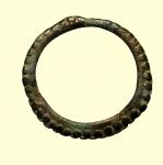 reverse: Monete Celtiche. I Celti. II-I sec. a.C. Moneta ad anello : AE. Peso 6 gr. Diametro 41 mm. BB+.