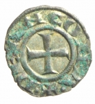 reverse: Zecche Italiane. Ancona. Denaro. Sec. XIII. Peso 0,70 gr. Diametro 16,55 mm. BB