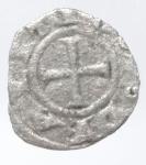 reverse: Zecche Italiane. Arezzo. Repubblica (XIII sec.). Denaro Piccolo, 1250. MIR 10. AG. Peso 0,31 gr. MB.___
