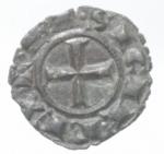 reverse: Zecche Italiane. Brindisi. Corrado I. 1250-1254.Mezzo Denaro. Mi. Mir. 301. Peso. gr. 0,63. Diametro mm. 16.RRRSPL.___