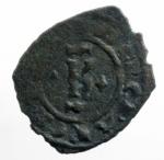 obverse: Zecche Italiane .Brindisi. Carlo I d Angiò (1266-1278). Denaro con K e quattro gigli. MIR 339. Sp. 31. MI. g. 0.67. qBB.ex Tintinna 77 lotto 556 aggiudicato ma non pagato