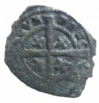 reverse: Zecche Italiane .Brindisi. Carlo I d Angiò (1266-1278). Denaro con K e quattro gigli. MIR 339. Sp. 31. MI. g. 0.67. qBB.ex Tintinna 77 lotto 556 aggiudicato ma non pagato