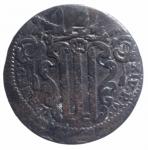 reverse: Zecche Italiane. Gubbio. Pio VI. 1775-1799. Baiocco An. XVII. D/ PIVS SEXTVS PON M A XVII Stemma. R/ VN BAIOCCO GUBBIO. Peso 11,75 gr. Diametro 33 mm. MB. NC.**
