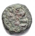 obverse: Zecche Italiane - Messina.Tancredi (1190-1194).Follaro.MIR 45. Sp. 139/140.CU.g. 1,89.qBB.Moneta emessa a nome di Tancredi con il figlio Ruggero, suo primogenito (1191-1193).