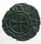obverse: Zecche Italiane . Messina Corrado II (1254-1258) Denaro. D/ CVR. R/ Croce. Sp.173. MI, 0.6 gr. BB+.ex Tintinna 77 lotto 580 aggiudicato ma non pagato