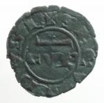 reverse: Zecche Italiane . Messina Corrado II (1254-1258) Denaro. D/ CVR. R/ Croce. Sp.173. MI, 0.6 gr. BB+.ex Tintinna 77 lotto 580 aggiudicato ma non pagato