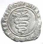 reverse: Zecche Italiane. Milano. Barnabò Visconti. 1378-1385. Sesino. AG. Cr. 5/A. Peso gr. 0,90. BB+.