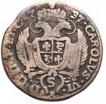 reverse: Zecche Italiane - Milano. Carlo VI. 1707-1740. Da 5 soldi 1737. MI. Crippa 23C. Peso gr. 2.59. qBB. Raro.