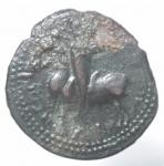 obverse: Zecche Italiane. Mileto. Ruggero I (1072-1101). Trifollaro AE. B.1583. Peso 11,05 gr. Diametro 26,13 mm. BB+.___