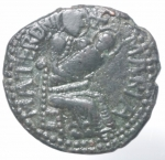 reverse: Zecche Italiane. Mileto. Ruggero I (1072-1101). Trifollaro AE. B.1583. Peso 11,05 gr. Diametro 26,13 mm. BB+.___