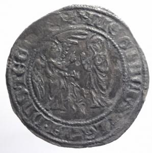 obverse: Zecche Italiane. Napoli. Carlo II d Angiò (1285-1309). Saluto. P.R. 2.Peso 2,60 gr. AG. BB.**