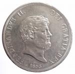 obverse: Zecche Italiane. Napoli. Ferdinando II (1830-1859). Piastra 1853. Mont.796. AG. Bel BB+.**