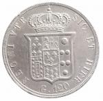 reverse: Zecche Italiane. Napoli. Ferdinando II (1830-1859). Piastra 1853. Mont.796. AG. Bel BB+.**