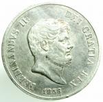 obverse: Zecche Italiane. Napoli. Ferdinando II. 1830-1859. 120 grana 1856. Ag. D/ Testa a destra. R/ Stemma coronato. Peso 27,40 gr. BB+.