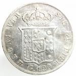 reverse: Zecche Italiane. Napoli. Ferdinando II. 1830-1859. 120 grana 1856. Ag. D/ Testa a destra. R/ Stemma coronato. Peso 27,40 gr. BB+.