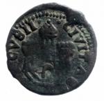 reverse: Zecche Italiane.Ragusa. Repubblica (1358-1808). Follaro. CNI 18-68. AE. g. 1,30 BB.**