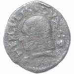 obverse: Zecche Italiane. Reggio Emilia. Bagattino Ercole I. 1471-1505. MIR 1268.bellesia 11. Peso 2,31 gr. Diametro 15,47 mm. BB. NC.___