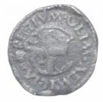 reverse: Zecche Italiane. Reggio Emilia. Bagattino Ercole I. 1471-1505. MIR 1268.bellesia 11. Peso 2,31 gr. Diametro 15,47 mm. BB. NC.___