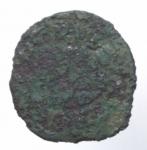 reverse: Zecche Italiane.Reggio Emilia. Ercole II Duca. 1534-1559. Sesino. Cu. CNI.221\255.Bellesia 13. Peso 0,93 gr. MB. RR.___